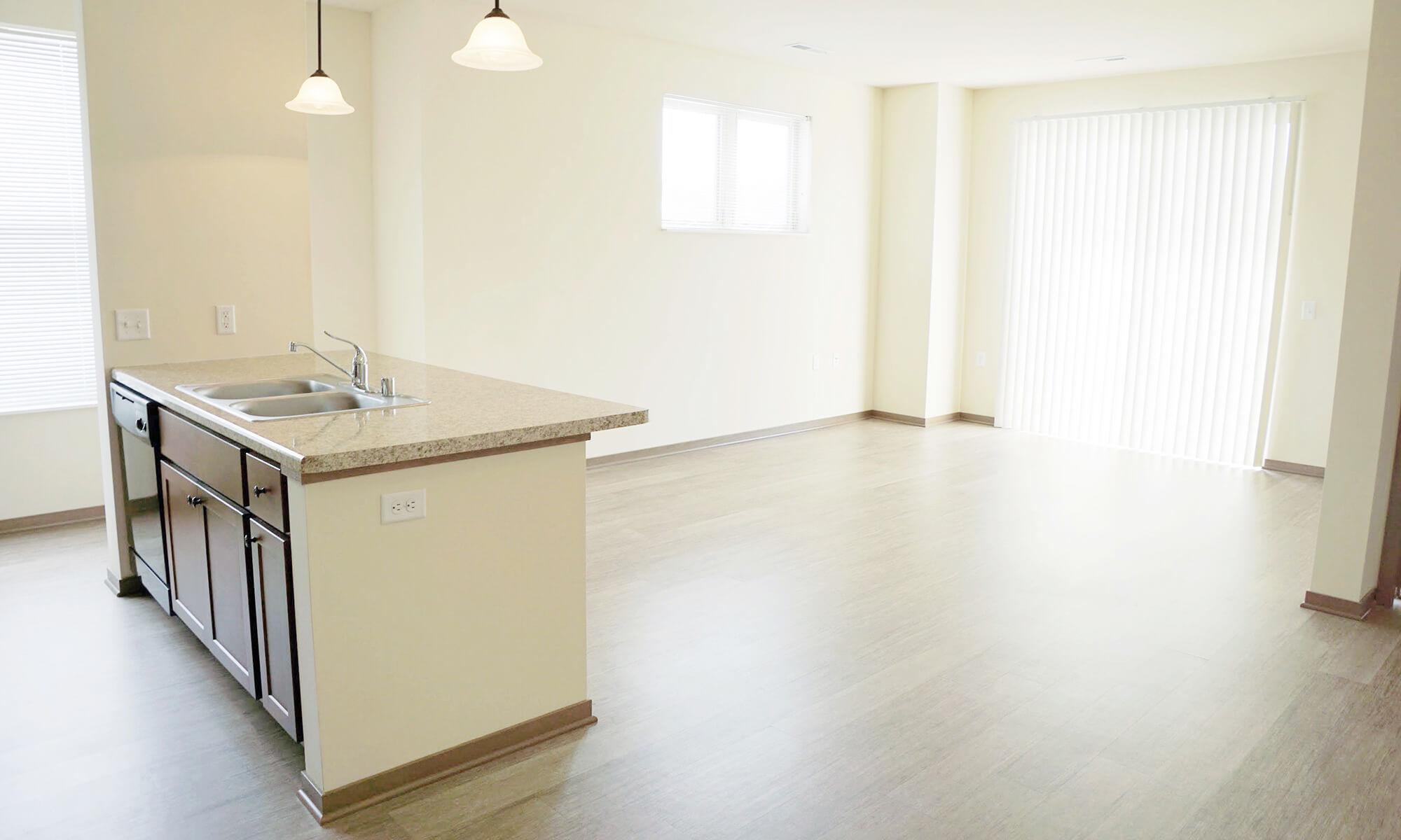 1B 1B Rose Living Kitchen 2